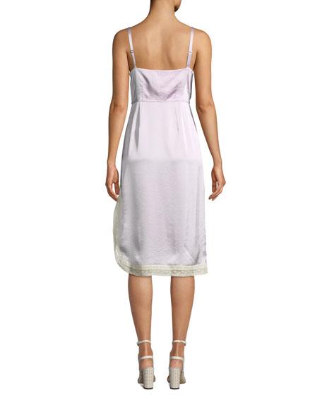 Coach x Selena Gomez Slip Dress with Lace Trim