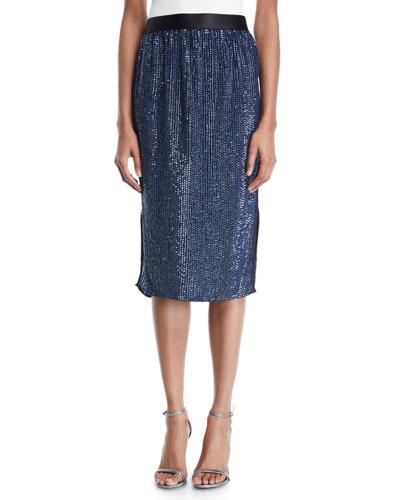 Malloren Sequin Midi Skirt