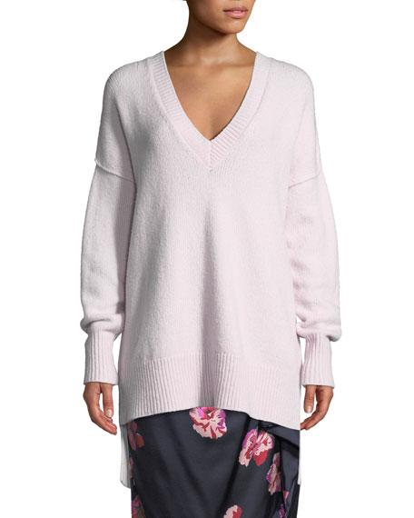 Joie Limana V-Neck Long-Sleeve Wool-Blend Sweater