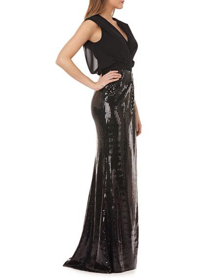 269392da80 Image 2 of 4  Kay Unger New York Sleeveless Column Gown w  Sequin Skirt