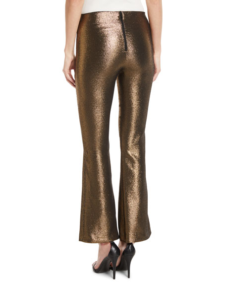 Kylyn High-Waist Back-Zip Flare Pants
