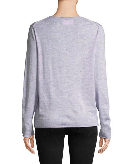 Zadig & Voltaire Gwendal Wool Intarsia Scoop-Neck Sweater