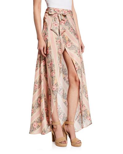 Jolene Floral Silk Maxi Skirt