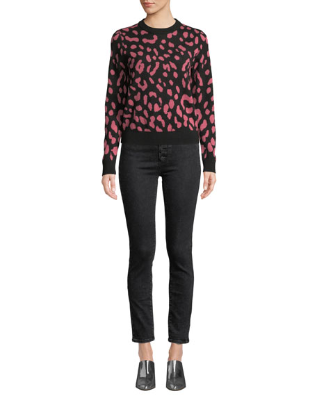 PAIGE Hoxton Ankle Skinny Jeans with Button Fly