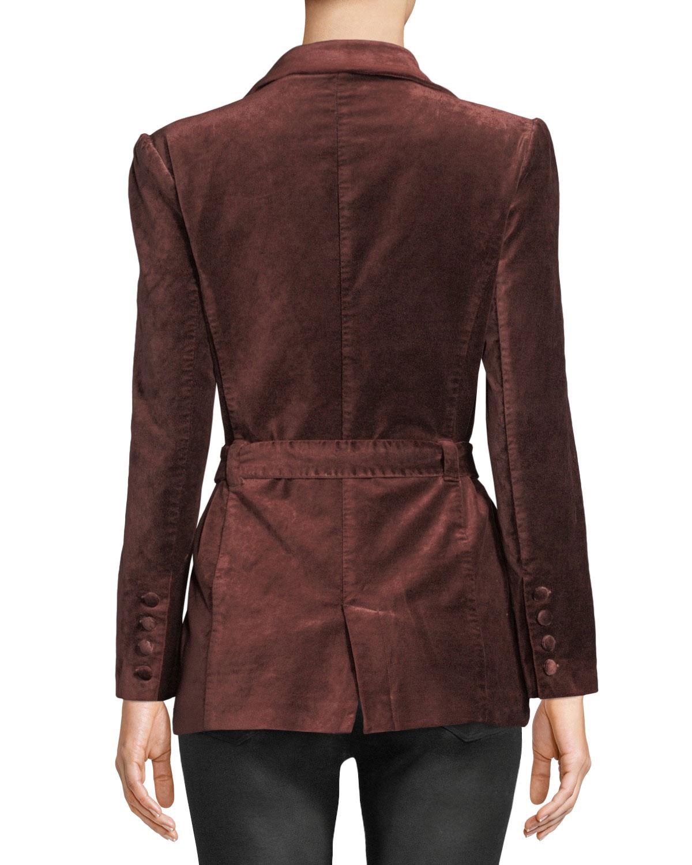 f91d5d87afd2 PAIGE Sorrenti Belted Velvet Blazer | Neiman Marcus