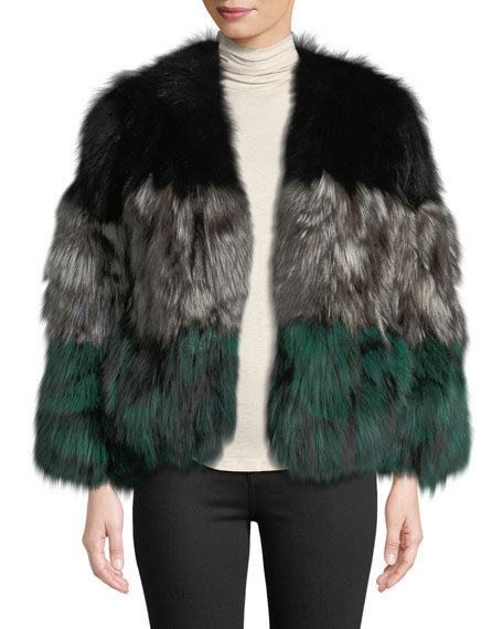 874604560d79 Adrienne Landau Multicolor Fox Fur Jacket