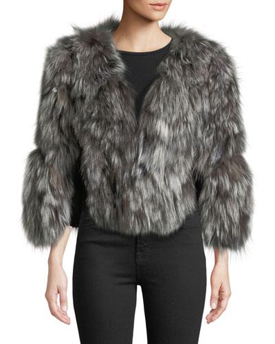 Fox Fur Jacket w/ Leather Inserts
