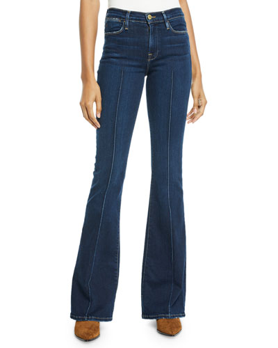 Le High Flare-Leg Pintuck Jeans