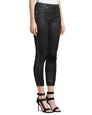 7 for all mankind The Ankle Skinny Side-Stud Jeans 06d92d672