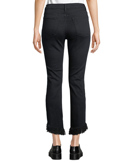 Image 2 of 3: FRAME Le High Straight-Leg Jeans with Shredded Hem