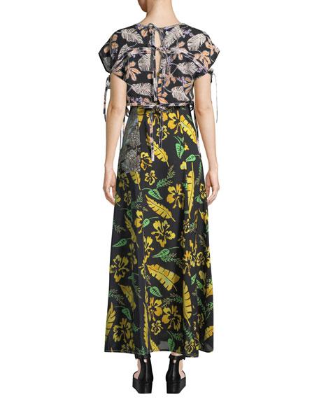 3.1 Phillip Lim Silk Patchwork Long Dress