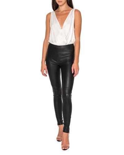 Ama Skinny Leather Pants