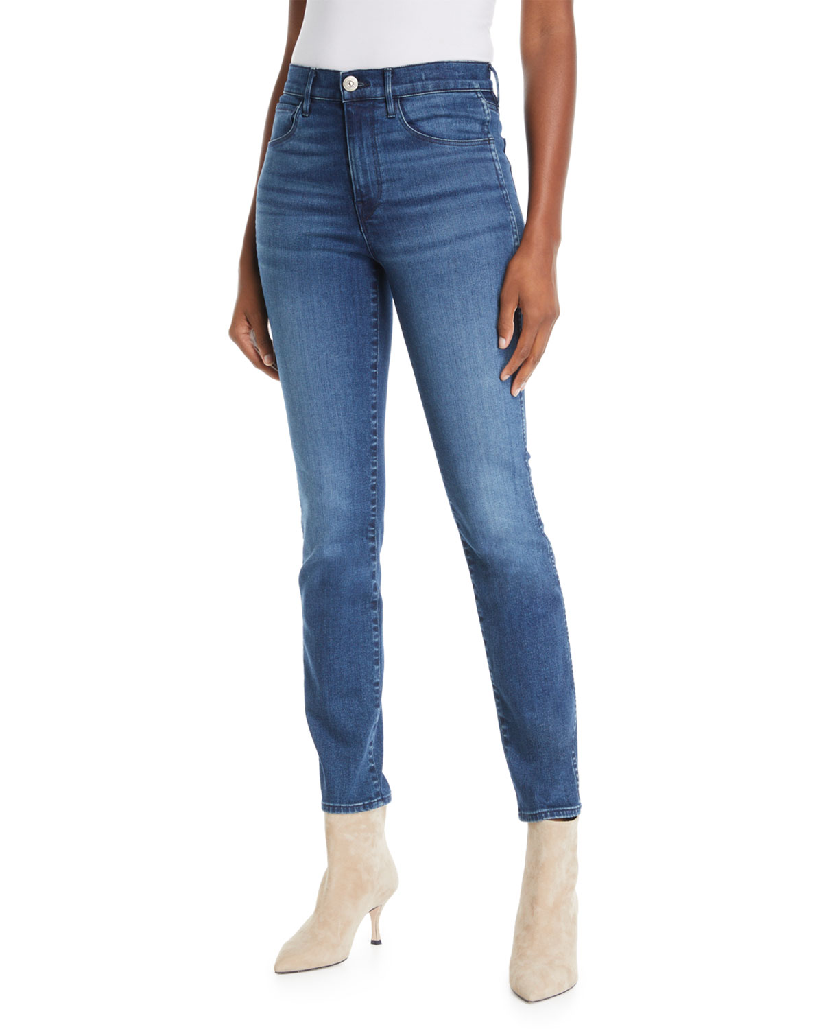 4a5230fe6f W3 Authentic High-Rise Straight-Leg Jeans