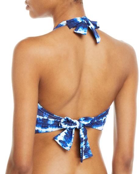 Tommy Bahama Tie-Dye Striped Underwire Halter Bikini Top