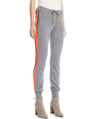 Billie Side-Stripe Cashmere Jogger Track Pants