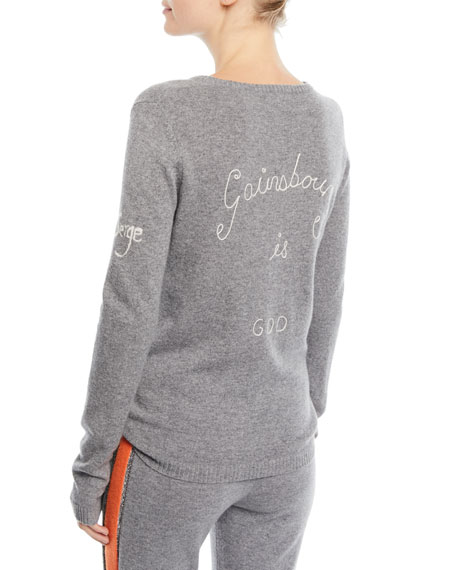 Bella Freud Je T'aime Jane Cashmere Sweater