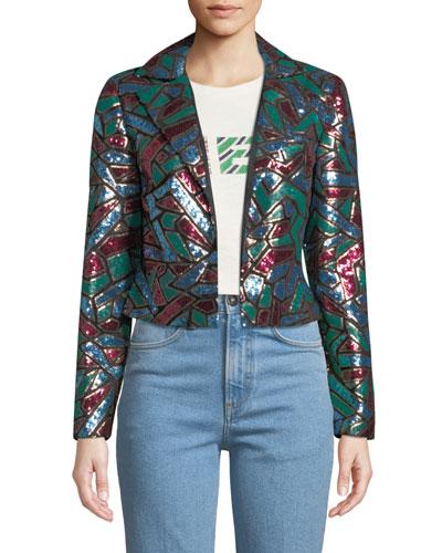 Multicolor Sequin Blazer