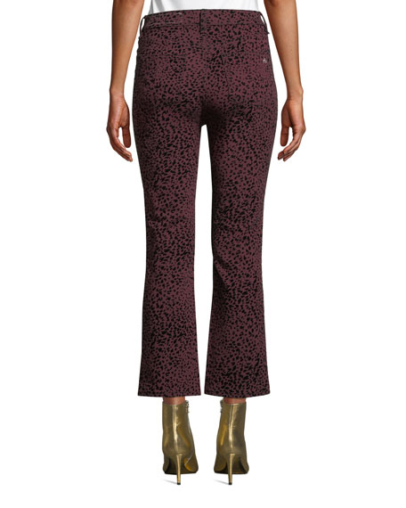 Rag & Bone Hana High-Rise Cropped Cheetah-Print Jeans