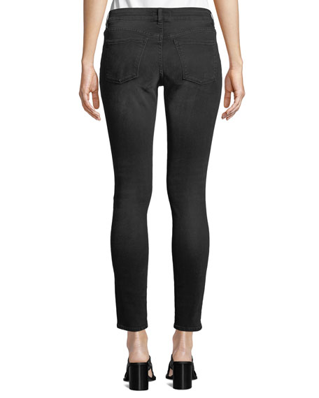 DL1961 Premium Denim Emma Low-Rise Skinny Ankle Jeans with Rhinestones