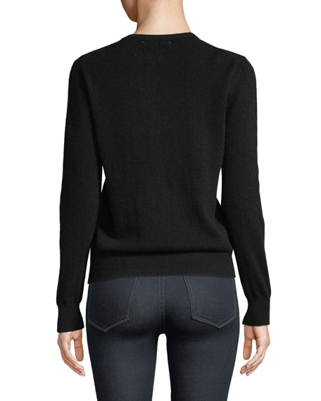 Everyday I'm Hustlin Embroidered Cashmere Sweater