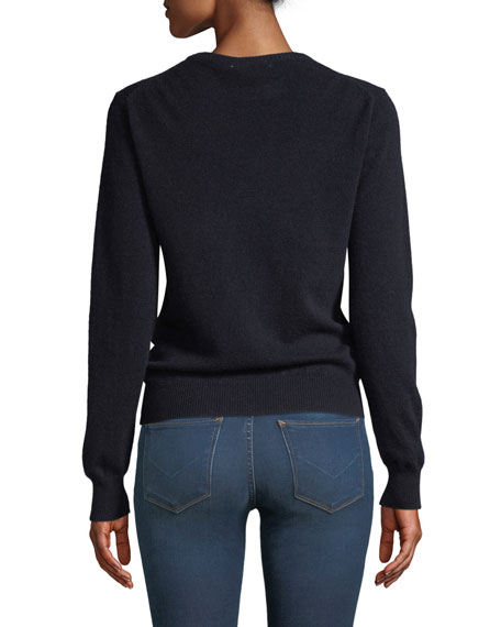 It Was All A Dream Embroidered Cashmere Sweater