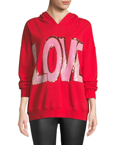 Vernie LOVE Embellished Pullover Hoodie