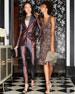 Alice + Olivia Natalie Embellished V-Neck Midi Dress w/ Slit