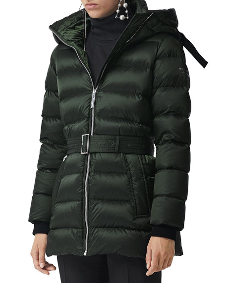 Burberry Limehouse Belted Puffer Coat