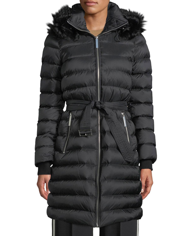 719bb636584c Burberry Detachable Shearling-Trim Down-Filled Puffer Coat