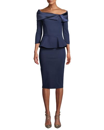 Sansirai Body-Con Peplum Dress