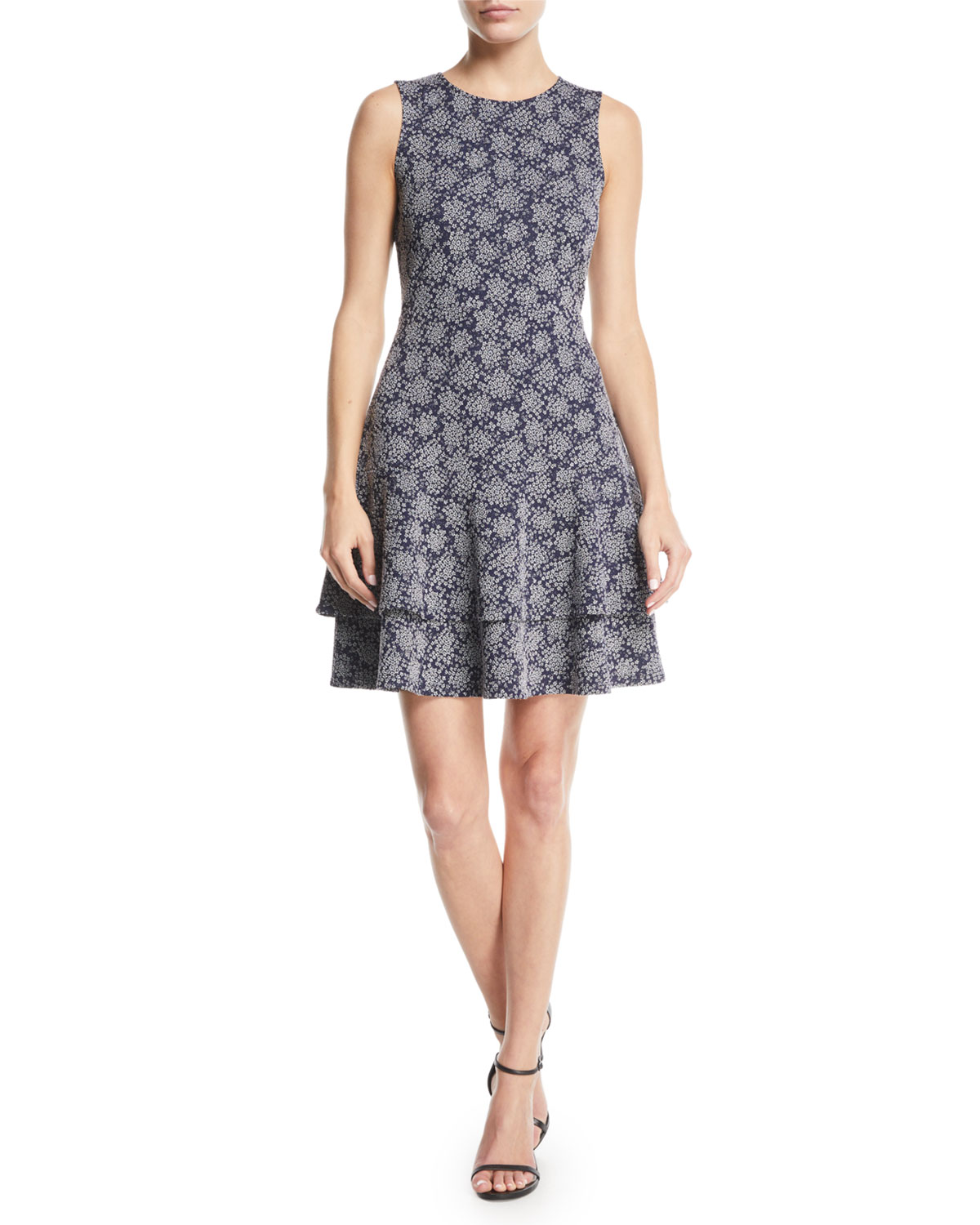 Michael Michael Kors Field Of Flowers Sleeveless Fit And