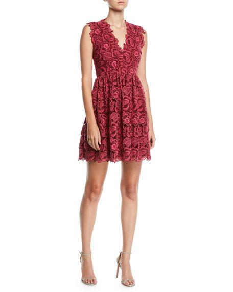 kate spade new york bicolor sleeveless lace dress