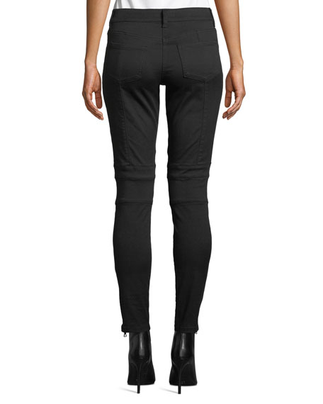 Image 2 of 3: Joie Adorea Skinny Lace-Up Ankle-Zip Moto Pants