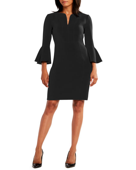 Elie Tahari NATANYA 3/4-SLEEVE SHEATH DRESS