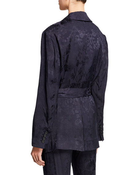 Equipment Elsworth Two-Button Floral-Jacquard Jacket