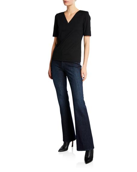 Lafayette 148 New York Mercer Flared Prestige Denim Jeans