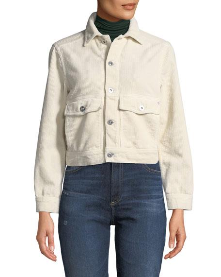 AG Evonne Button-Front Corduroy Jacket