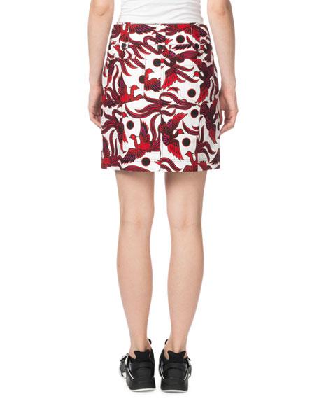 9af6cb11db Kenzo Structured Phoenix-Print Mini Skirt | Neiman Marcus