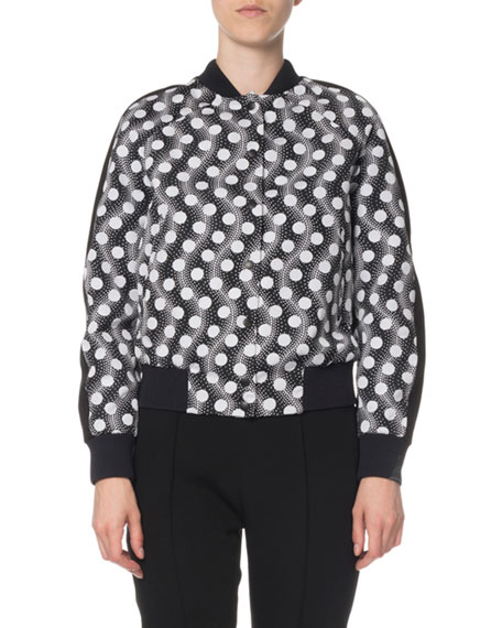 Kenzo Teddy Snap-Front Bomber Jacket