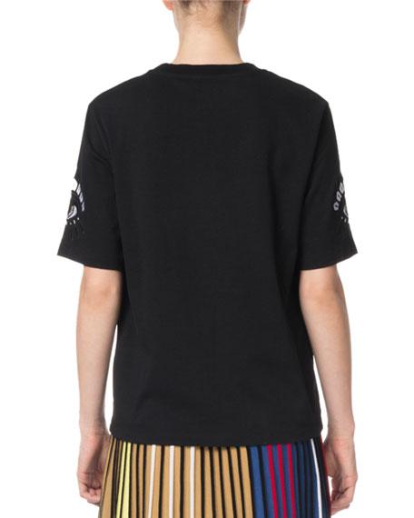 Kenzo Eye Logo Cotton Crewneck T-Shirt