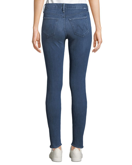 MOTHER The Looker Mid-Rise Ankle Skinny Jeans