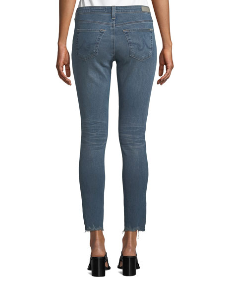 AG The Legging Super Skinny Ankle Jeans w/ Chewed Hem