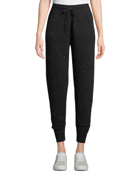 Theory Arleena Speckled Cashmere Jogger Pants Neiman Marcus