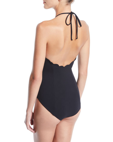 Marysia Broadway Tie Maillot Printed One-Piece Swimsuit