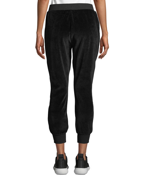 kate spade new york velour drawstring jogger pants