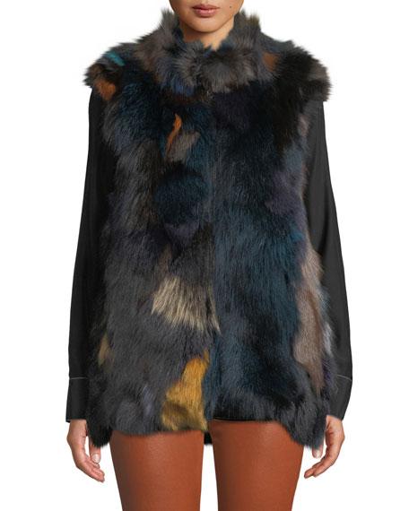 Kelli Kouri Multicolored Fur Vest