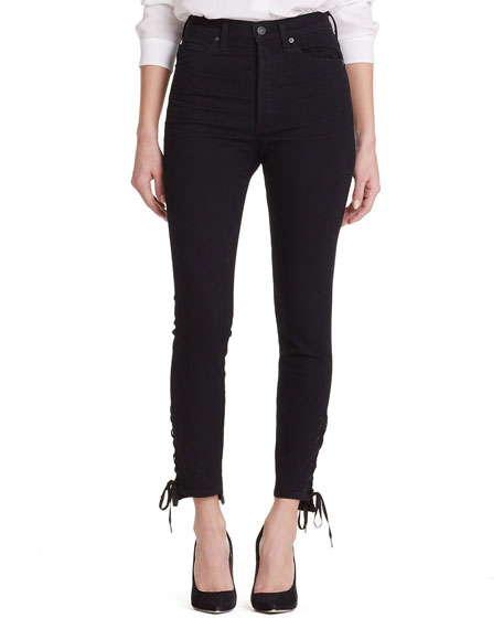 Citizens of Humanity Olivia High-Rise Lace-Up Skinny Ankle Jeans