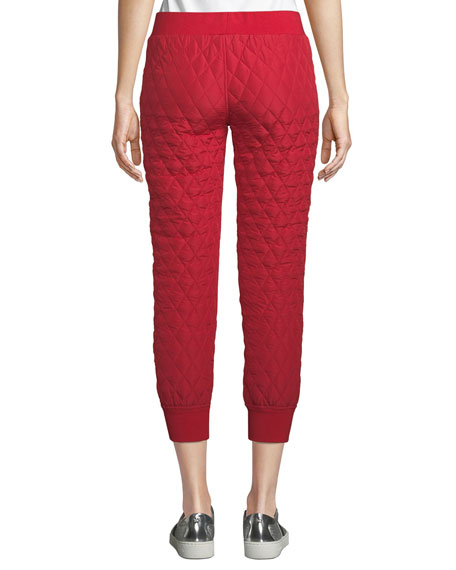 Norma Kamali Quilted Cropped Jogger Pants