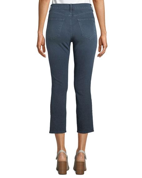 Rag & Bone High-Rise Distressed Cropped Skinny Jeans