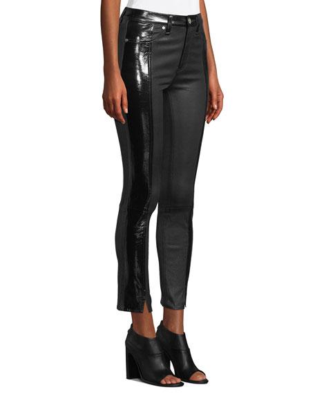 2cbf157aa04c1 rag & bone/JEAN Evelyn Two-Tone Leather Skinny Pants | Neiman Marcus